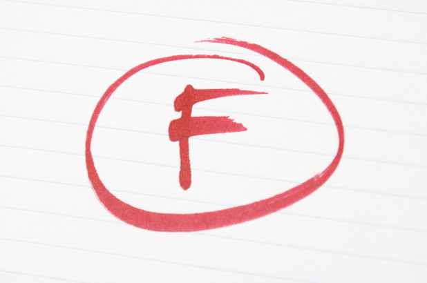 "A Letter to Teachers: You get an ""F"" in Grading"